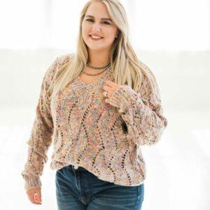 PLUS Let's Party Confetti Sweater