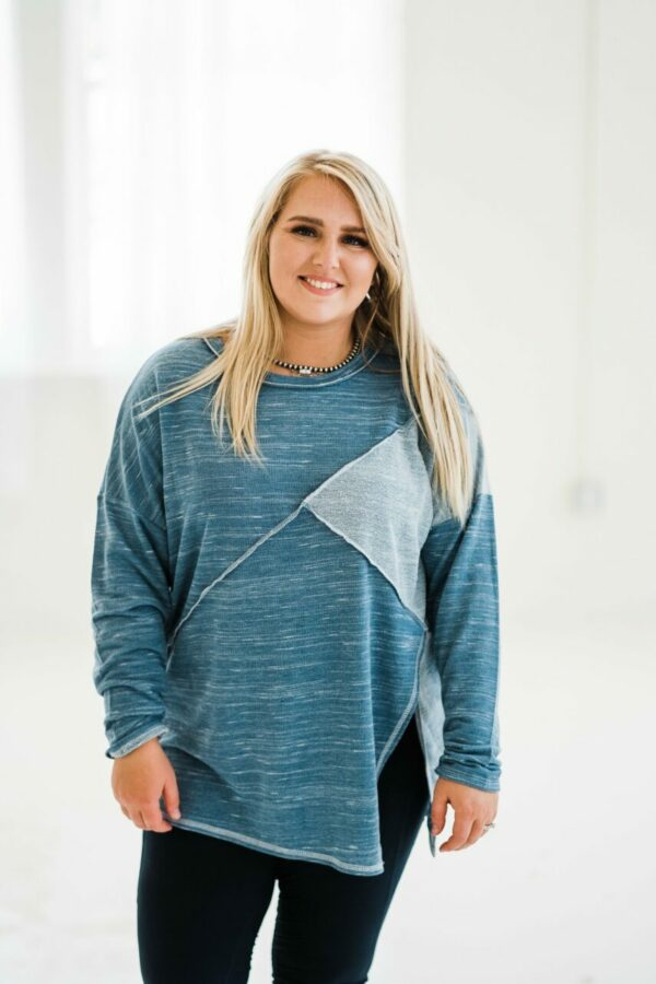 Catch The Waves Top In Teal