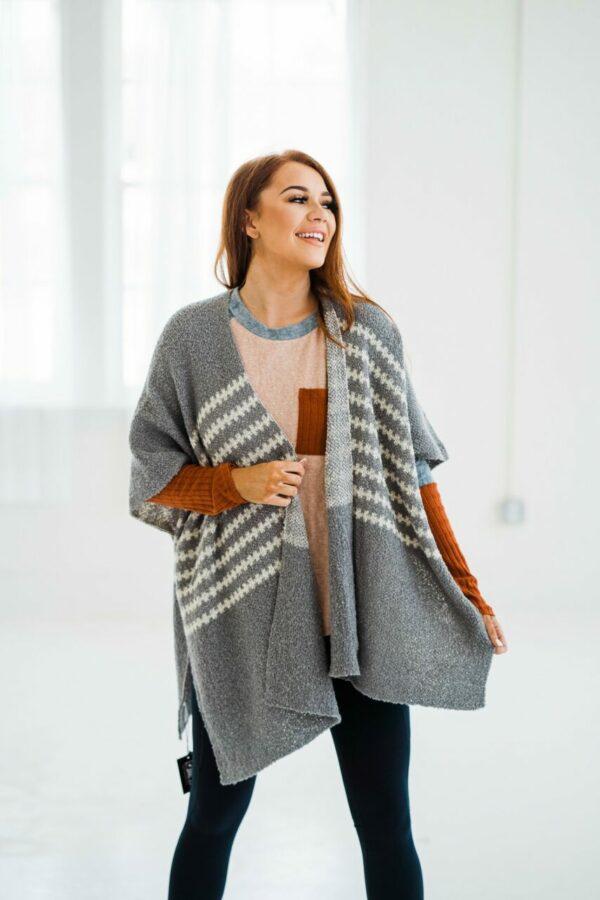 I Adore You Kimono In Grey
