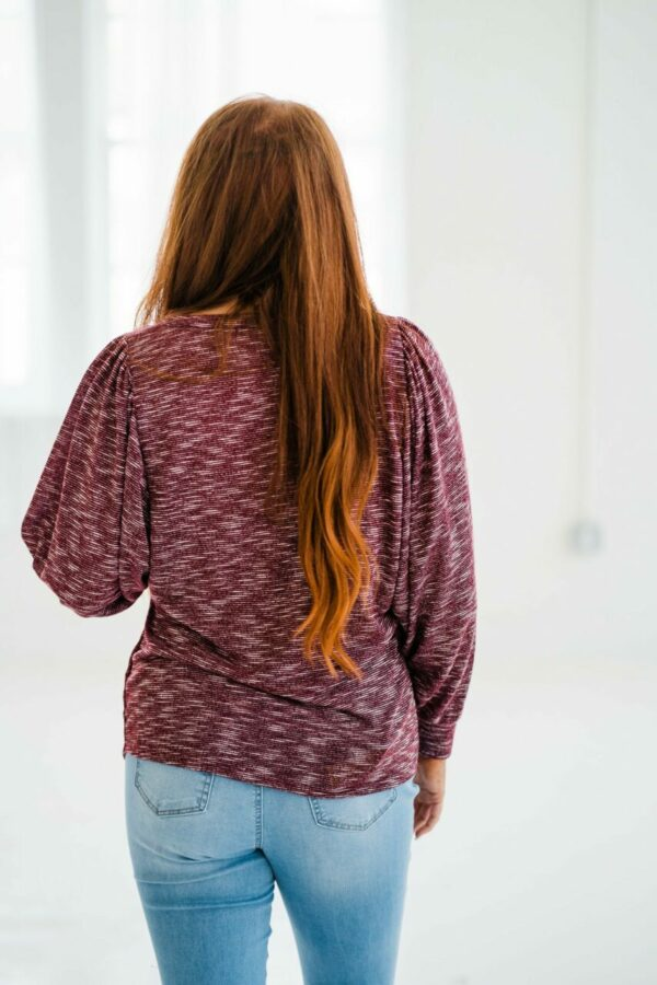 Conquer The Day Top In Burgundy
