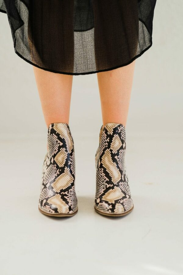 Matisse Trader Bootie in Natural Snake