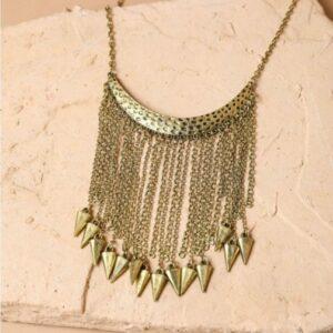 Bold Tribal Tassle Necklace