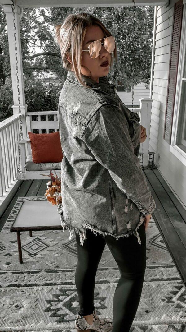 Jax Distressed Denim Jacket (multiple colors)
