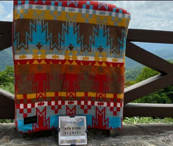 Sun River Aztec Camp Blanket
