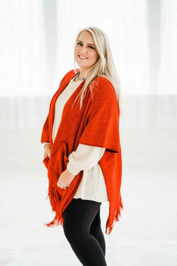 For The Frill Of It Cardigan In Red
