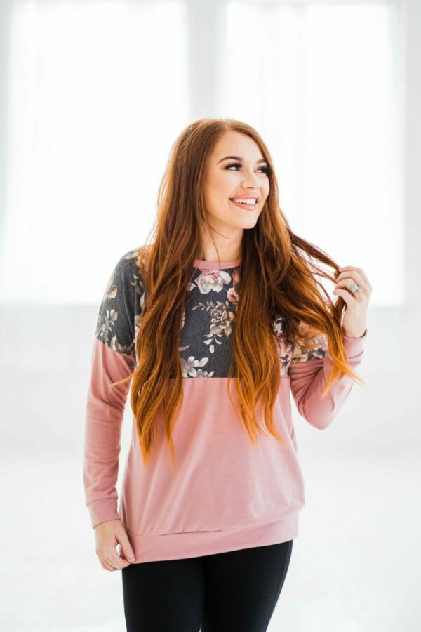 Flying Solo Floral Pullover