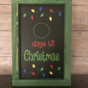 Christmas Lights Countdown to Christmas Sign
