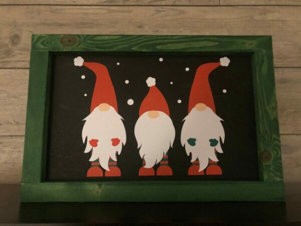 Christmas Gnomes Framed Sign