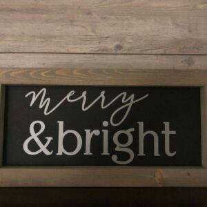 Merry and Bright Framed Sign
