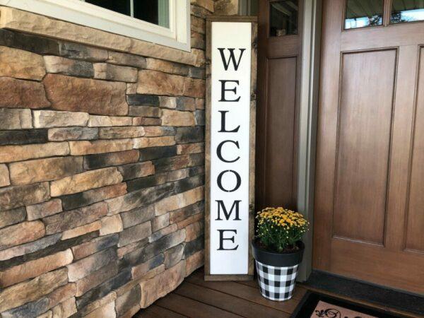 Welcome Framed Porch Sign
