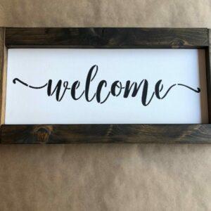 Welcome Framed Sign