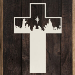 Nativity Cross – Kendrick Home Wood Sign