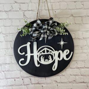 Peace Hope Front Door Sign