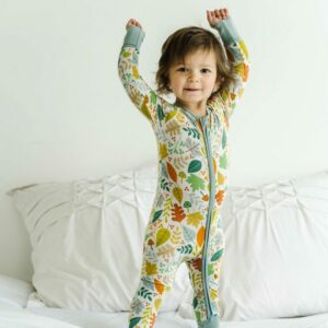 Warm Taupe Fall Leaves convertible romper/sleeper