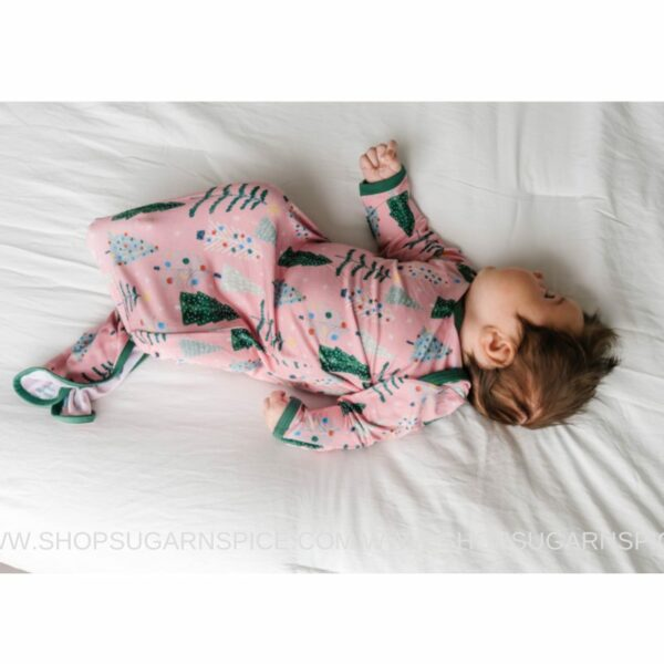 Pink Twinkling Trees Infant Knotted Gown