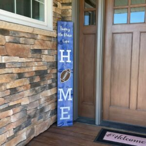 """There's No Place Like Home with Interchangable """"O"""" Magnetic Balls Porch Sign"""