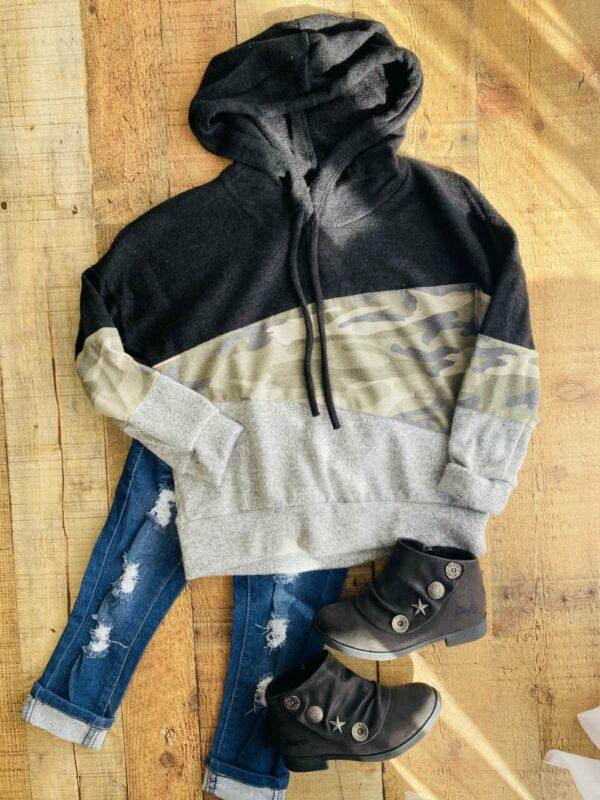 camoflauge hoodie top