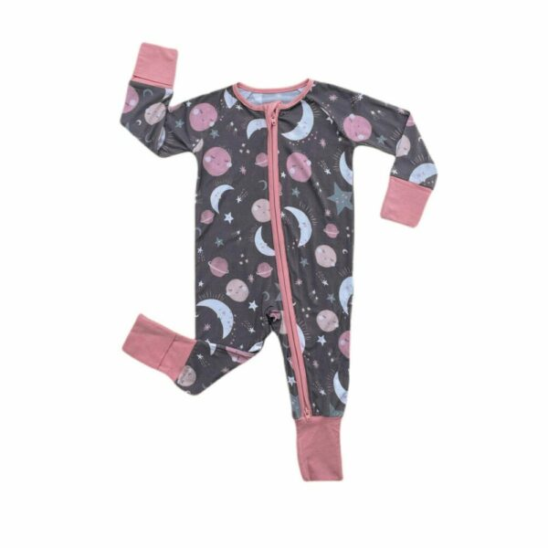 to the moon and back pink convertible sleep romper