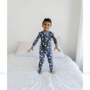 to the moon and back blue 2 pc pajama set