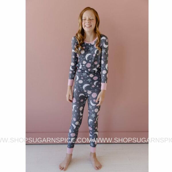 to the moon and back pink 2 pc pajama set