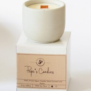 Papa's Candies – 8 oz Soy Cement Candle
