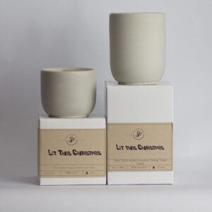 Lit This Christmas – 8 oz and 13 Oz Soy Cement Candle