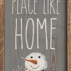 There's Snow Place Like Home Snowman – Kendrick Home Wood Sign