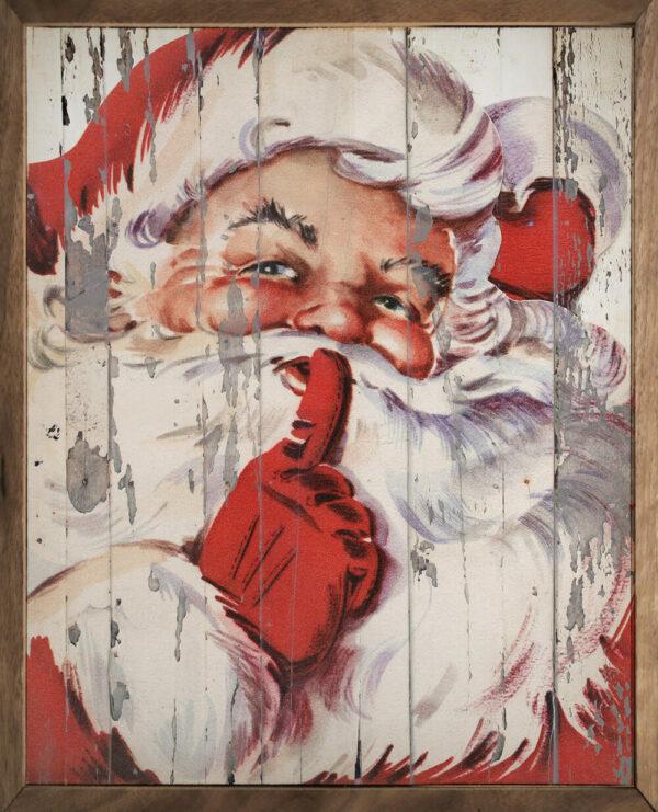 Santa Be Quiet Shh – Kendrick Home Wood Sign