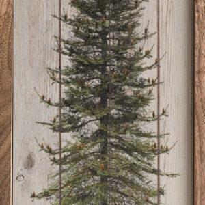 Happy Holidays Skinny Tree Whitewash – Kendrick Home Wood Sign
