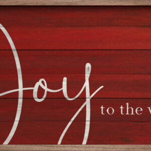 Joy to the World Script Red – Kendrick Home Wood Sign