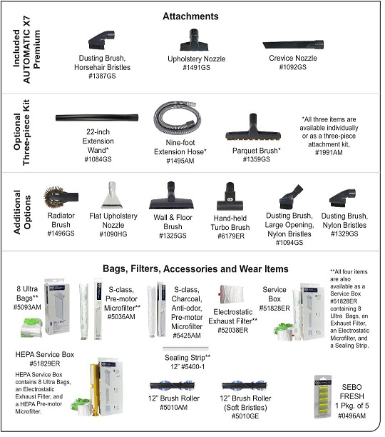 SEBO AUTOMATIC X7 Premium Upright Vacuum Cleaner
