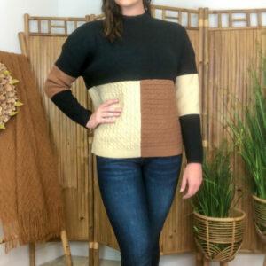 Black Mocha Sweater Top
