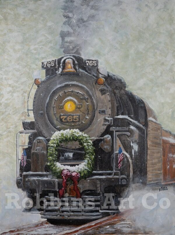 The Christmas Train Painting by Chris Robbins