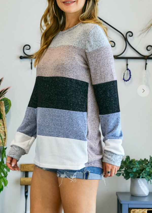 Loose Fit Color Block Long Sleeve (More Colors)