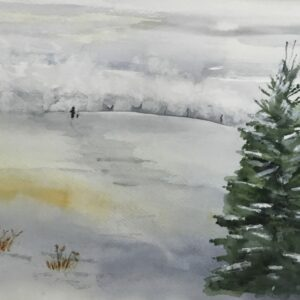 Holiday Snowy Walk Note Cards