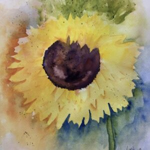 Sunflower Watercolor Print – Various Sizes