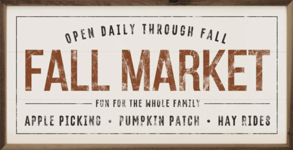 Fall Market White – Kendrick Home Wood Sign