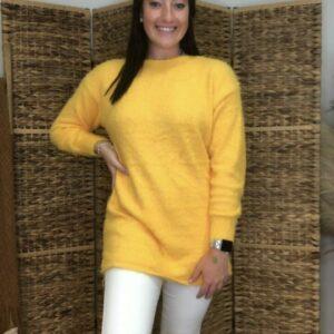 Fuzzy Yellow Sweater