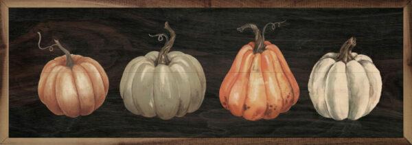 Four Pumpkins Black – Kendrick Home Wood Sign