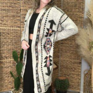 Multi Color Aztec Cardigan