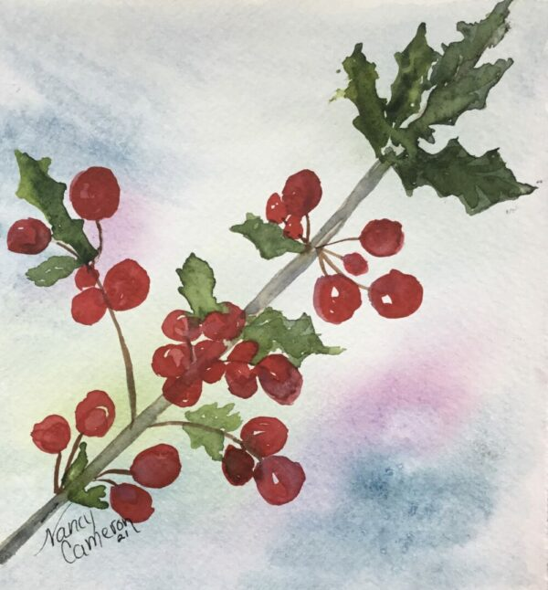 Holiday Holly Note Cards