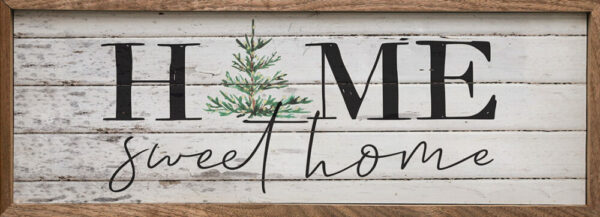 Home Sweet Home Christmas Tree Whitewash – Kendrick Home Wood Sign