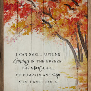 I Can Smell Autumn Tree Whitewash – Kendrick Home Wood Sign
