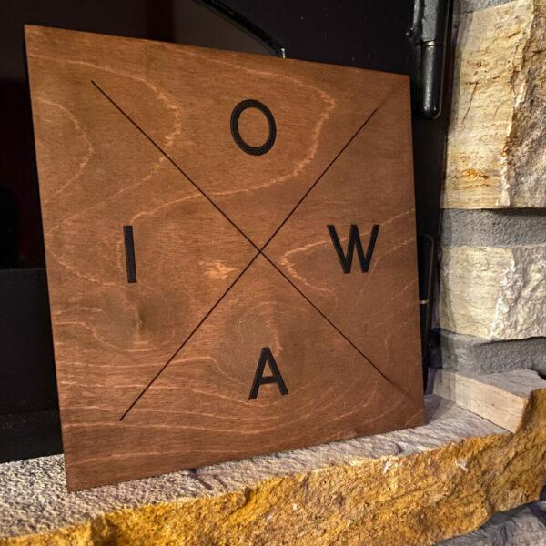 IOWA Crossroads Sign