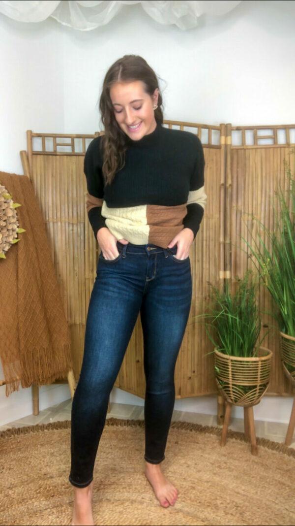 Judy Blue Mid Rise Skinny No Distress Jeans