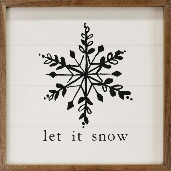 Let it Snow Snowflake White – Kendrick Home Wood Sign