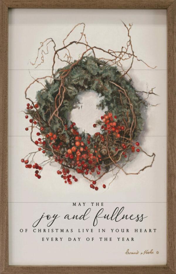 May the Joy and Fullness Wreath – Kendrick Home Wood Sign