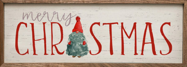 Merry Christmas Gnome Tree Whitewash – Kendrick Home Wood Sign