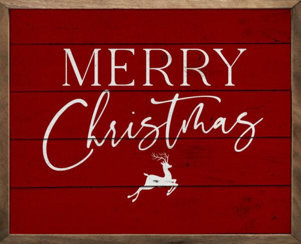 Merry Christmas Reindeer – Kendrick Home Wood Sign