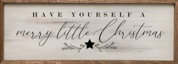 Merry Little Christmas – Kendrick Home Wood Sign